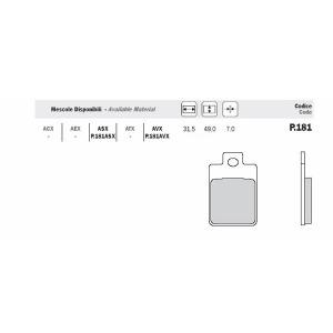 ADIGE PADS - P181ASX END OF LINE