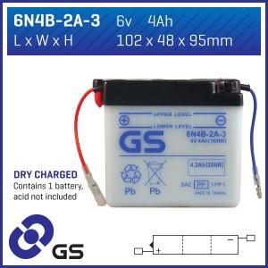 GS Battery - 6N4B2A3(DC)  (CASE 10)