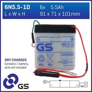 GS Battery - 6N551D(DC)  (CASE 10)