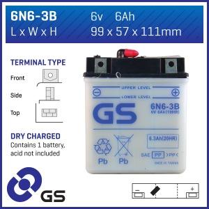 GS Battery 6N63B(DC)  (CASE 10)
