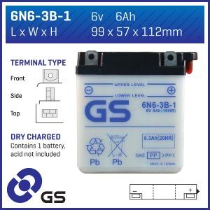 GS Battery - 6N63B1(DC)  (CASE 10)