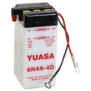 YUASA BATTERY 6N4A4D DC   (CASE 10)