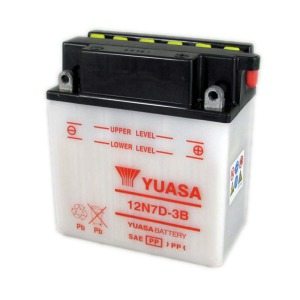 YUASA BATTERY 12N7D3B DC