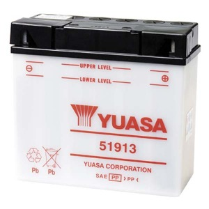 YUASA Battery 51913 (12C16A3A) CP ACID PACK (CASE 2)