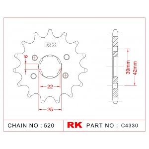 1265-13 SPROCKET FRONT (265)