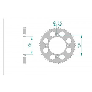 2066-48E SPROCKET-REAR ALLOY