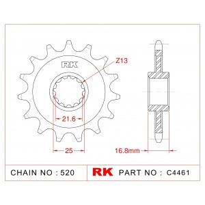 1373-16 SPROCKET FRONT (CH 4109) (20617)