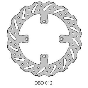 DELTA MX BRAKE DISC FRONT DBD012