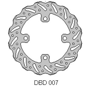 DELTA MX BRAKE DISC REAR DBD007