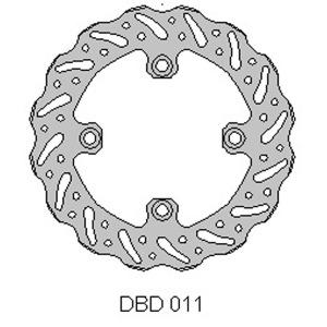 DELTA MX BRAKE DISC REAR DBD011