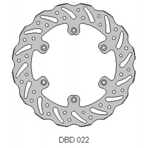 DELTA MX BRAKE DISC REAR DBD022