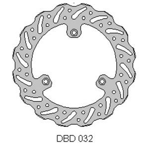 DELTA MX BRAKE DISC FRONT DBD032