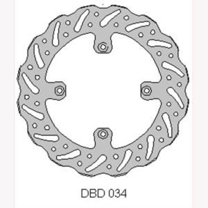 DELTA MX BRAKE DISC FRONT DBD034
