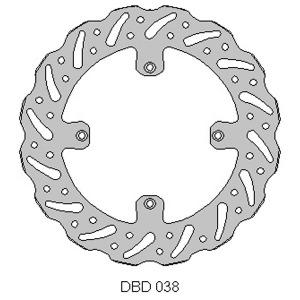 DELTA MX BRAKE DISC FRONT DBD038