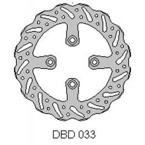 DELTA MX BRAKE DISC REAR DBD033