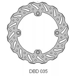 DELTA MX BRAKE DISC REAR DBD035