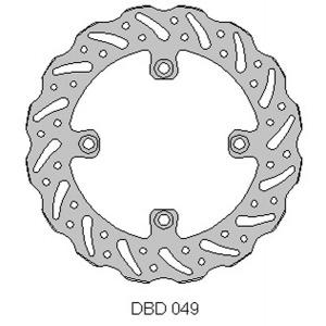 DELTA MX BRAKE DISC REAR DBD049