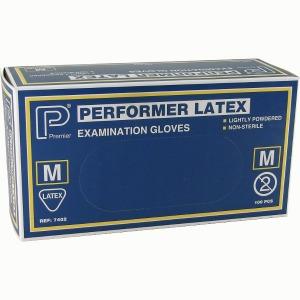 LATEX GLOVES MED 100 PER BOX
