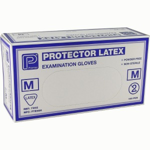 POWDER FREE LATEX GLOVES MED 100 PER BOX