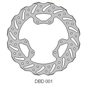 DELTA MX BRAKE DISC FRONT DBD001