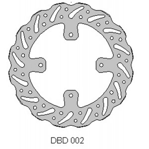 DELTA MX BRAKE DISC FRONT DBD002