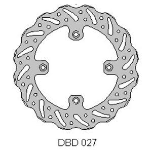 DELTA MX BRAKE DISC REAR DBD027