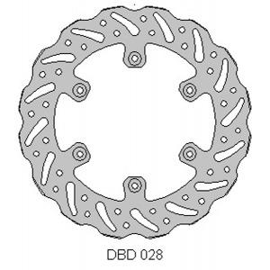 DELTA MX BRAKE DISC REAR DBD028