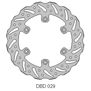 DELTA MX BRAKE DISC REAR DBD029