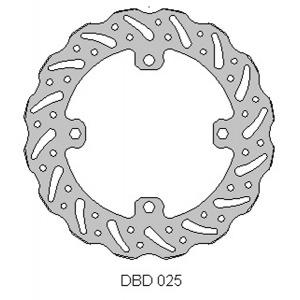 DELTA MX BRAKE DISC REAR DBD025