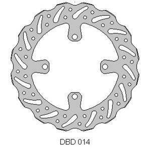DELTA MX BRAKE DISC FRONT DBD014