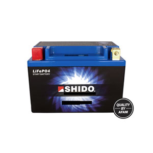 SHIDO BATTERY LT12B-BS Lithium Ion  (CASE 8) (GT12B-BS)