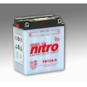 NITRO BATTERY YB12A-A open with acid pack (CB12AA) (CASE 4)