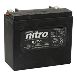 NITRO BATTERY HVT 01(YTX20LBS) AGM SEALED Harley OE 65989-97 12V (CASE 2)