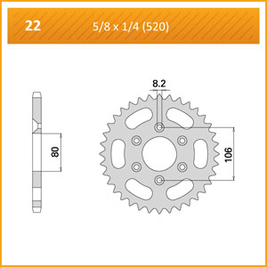 022-45 SPROCKET REAR