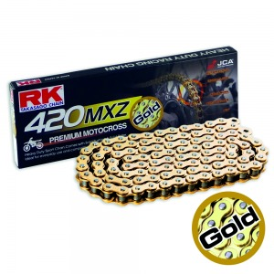 CHAIN RK GB420MX GOLD X 134