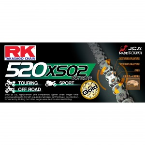 CHAIN RK 520XSO-120 GOLD