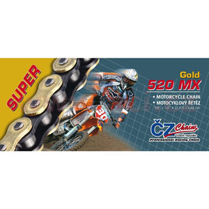 CHAIN CZ 520MX GOLD X 118