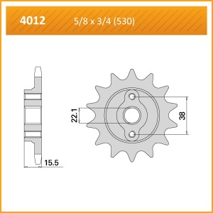 4012-15 SPROCKET-FRONT