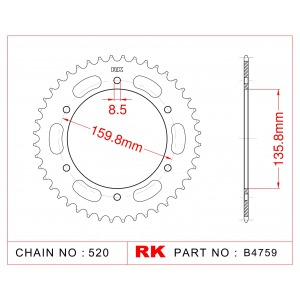 005-44 SPROCKET REAR CARAT