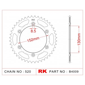 008-44 SPROCKET REAR CARAT