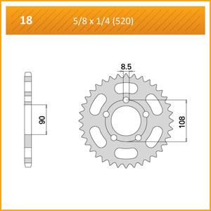 018-43 SPROCKET REAR