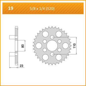 019-36 SPROCKET REAR