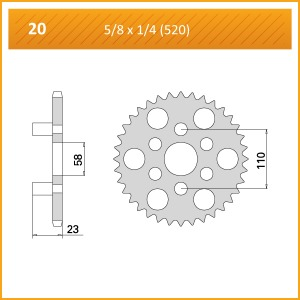 020-45 SPROCKET REAR