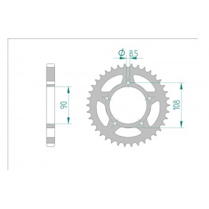 1022-38 SPROCKET REAR(P)