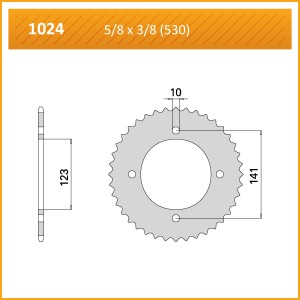 1024-40 SPROCKET REAR (P)