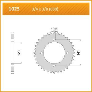 1025-34 SPROCKET REAR (P)