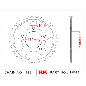 1332-42 SPROCKET REAR (332/344)