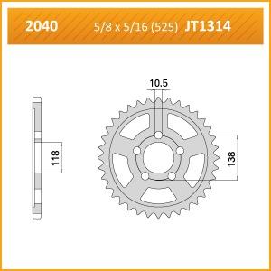 2040-39 SPROCKET REAR (1314)