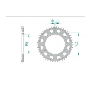 2049-45 SPROCKET REAR (P)