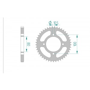 2053-48 SPROCKET REAR(J)(1873)